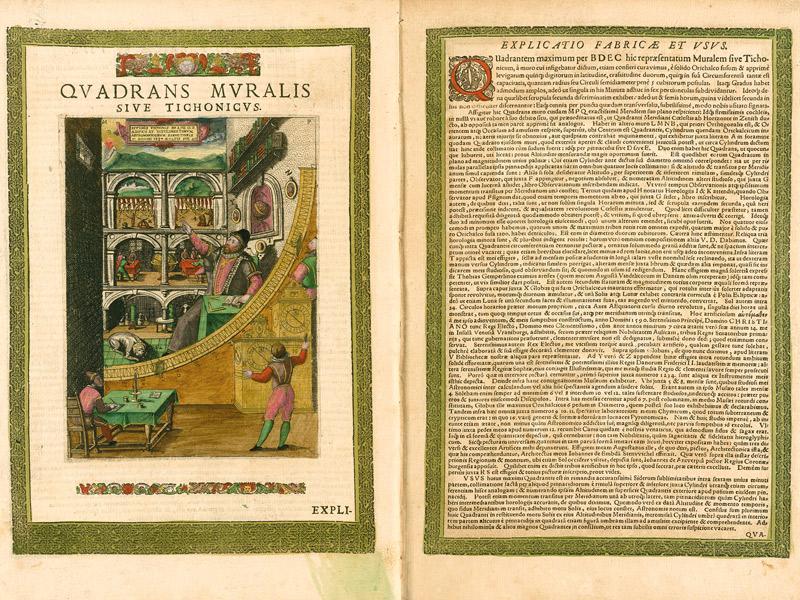 Tycho Brahe und sein Mauerquadrant