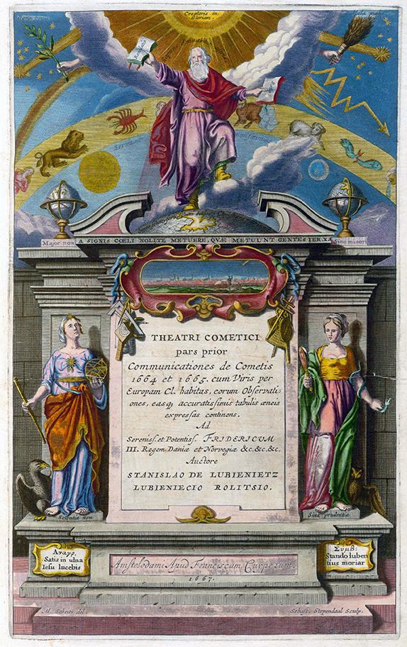 "Titelblatt aus Stanislaw Lubienieckis ""Theatrum Cometicum"""