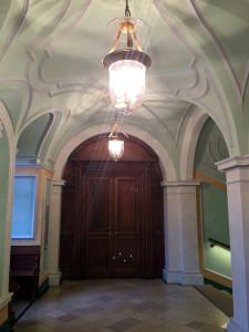 Eingangsbereich der Forschungsbibliothek Gotha