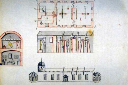 Erster Entwurf für die Seeberg-Sternwarte