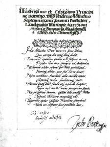 Widmung Tycho Brahes