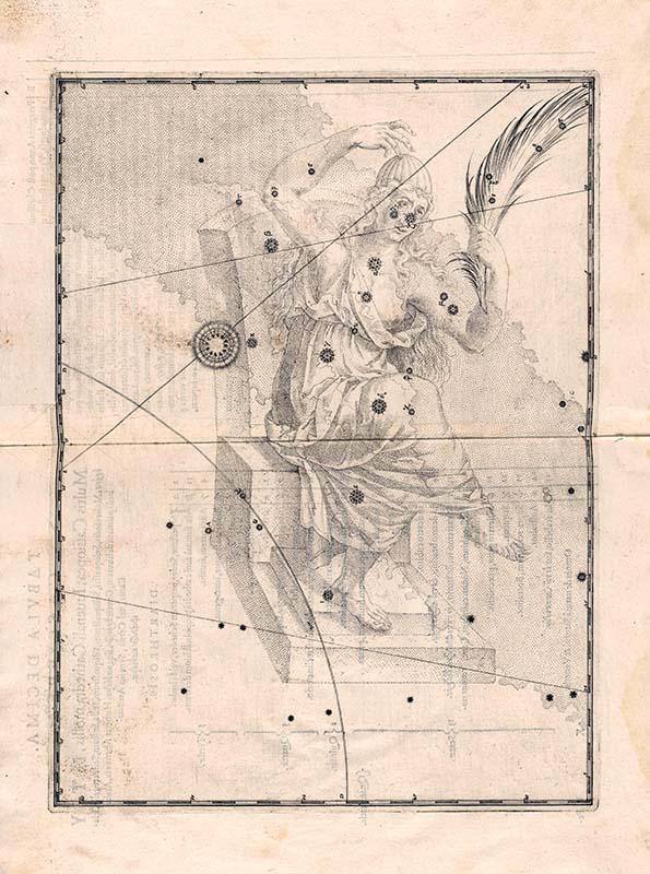 Sternbild Cassiopeia in Johannes Bayers Uranometria