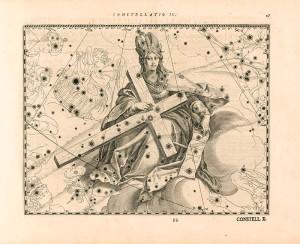 Sternbild Schwan als Kreuz Christi bei Julius Schiller: Coelum stellatum christianum