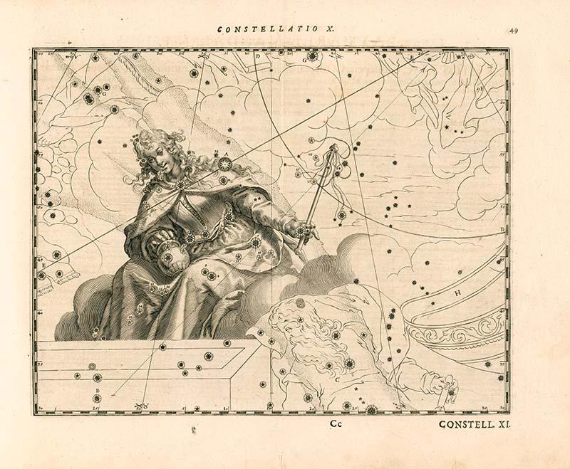 Sternbild Maria Magdalena. In: Julius Schiller. Coelum stellatum christianum