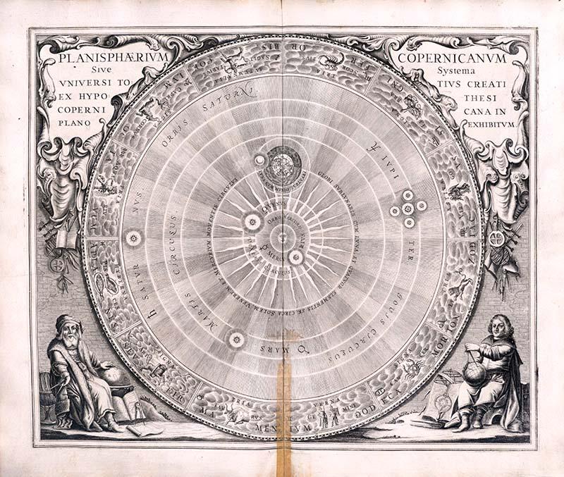 Copernicanisches Weltmodell in Andreas Cellarius: Harmonia macrocosmica