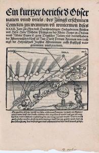 Petrus Apian. Ein kurtzer bericht der Observation unnd urtels / des Jüngst erschinnen Cometen.