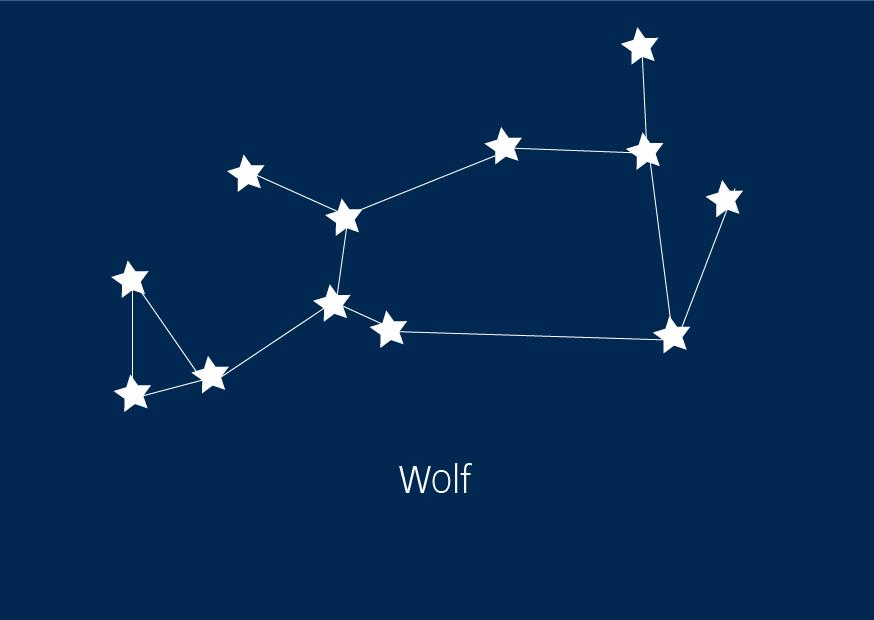 Sternbilder Wolf